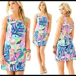 LILLY PULLITZER Cathy Shift Dress Exotic Garden